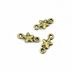 Link bronz stea 15x7mm