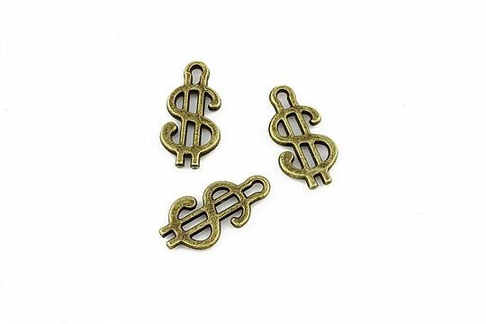 Charm bronz dolar 18x8mm
