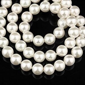 Perle tip Mallorca albe sfere 6mm