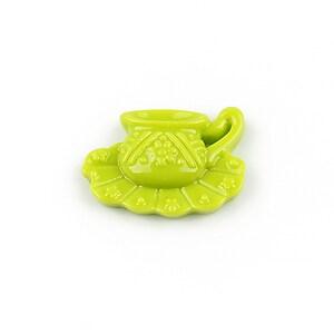 Cabochon rasina ceasca 16x22mm - verde
