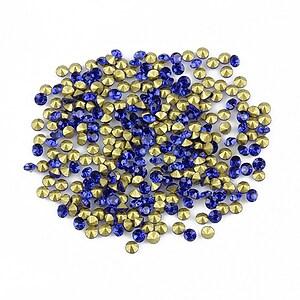 Cabochon rhinestone cristal 2mm (20 buc.) - albastru cobalt