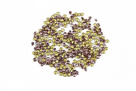 Cabochon rhinestone cristal 2mm (20 buc.) - lila