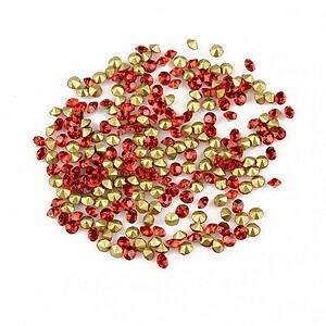 Cabochon rhinestone cristal 2mm (20 buc.) - rosu