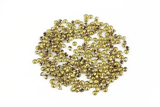Cabochon rhinestone cristal 2mm (20 buc.) - maro