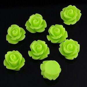 Cabochon rasina trandafir 10mm