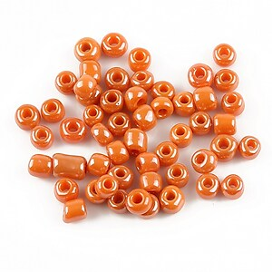 Margele de nisip 4mm (50g) - cod 263 - portocaliu