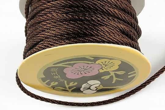 Snur nylon impletit grosime 3mm (1m) - maro