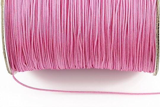 Snur nylon (Shamballa) grosime 1mm (1m) - roz