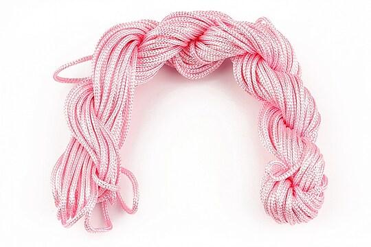 Ata nylon, grosime 2mm, 12m, roz