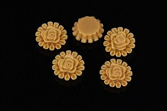 Cabochon rasina trandafir 13mm