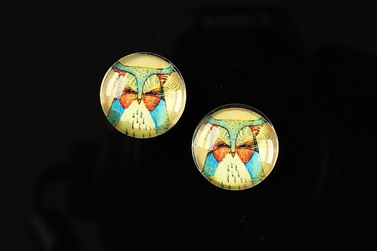 "Cabochon sticla 16mm ""Fantasy world"" cod 002"