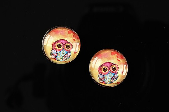 "Cabochon sticla 16mm ""Fantasy world"" cod 004"
