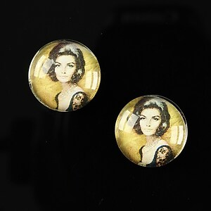 "Cabochon sticla 16mm ""Vintage ladies"" cod 018"