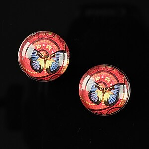 "Cabochon sticla 16mm ""Magic Butterfly"" cod 032"