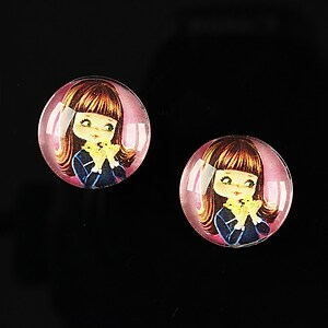 "Cabochon sticla 16mm ""Baby dolls"" cod 038"
