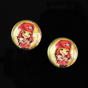 "Cabochon sticla 16mm ""Baby dolls"" cod 046"