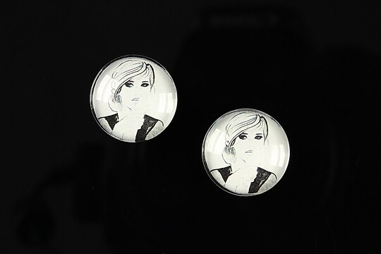 "Cabochon sticla 16mm ""illustration"" cod 049"