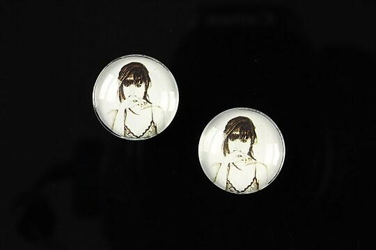 "Cabochon sticla 16mm ""illustration"" cod 052"