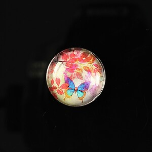 "Cabochon sticla 18mm ""Magic garden"" cod 060"