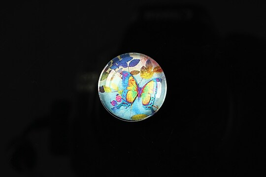 "Cabochon sticla 18mm ""Magic garden"" cod 063"