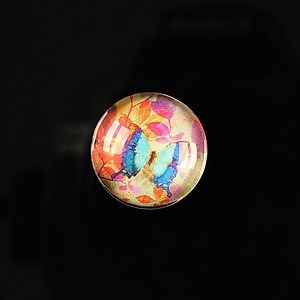 "Cabochon sticla 18mm ""Magic garden"" cod 064"