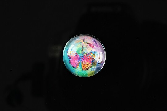 "Cabochon sticla 18mm ""Magic garden"" cod 065"