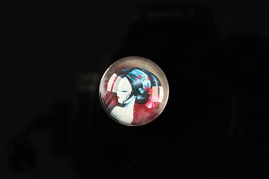 "Cabochon sticla 18mm ""Fairy tale"" cod 066"