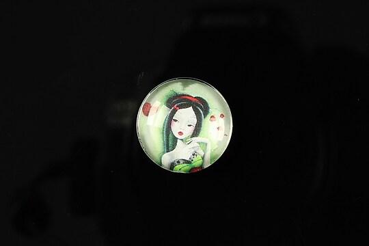 """Cabochon sticla 18mm """"Fairy tale"""" cod 067"""