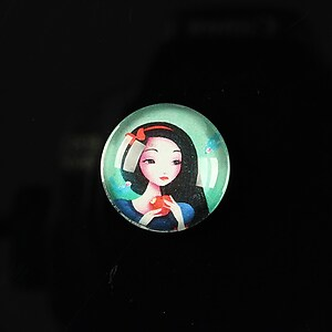 "Cabochon sticla 18mm ""Fairy tale"" cod 068"