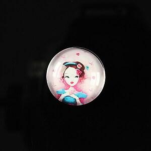 """Cabochon sticla 18mm """"Fairy tale"""" cod 070"""