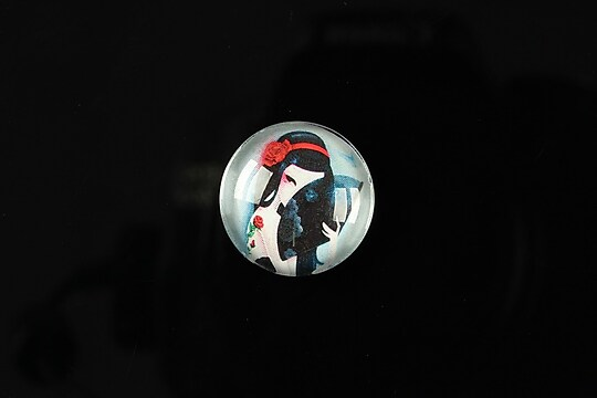 "Cabochon sticla 18mm ""Fairy tale"" cod 071"