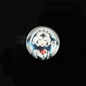 "Cabochon sticla 18mm ""Fairy tale"" cod 073"