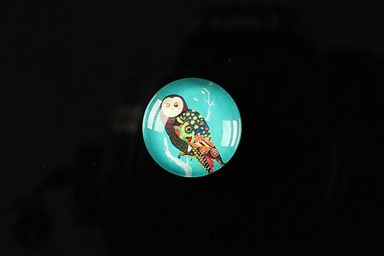 """Cabochon sticla 18mm """"Cutie owl"""" cod 076"""