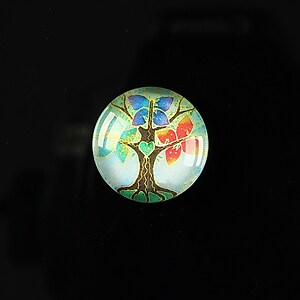 "Cabochon sticla 18mm ""Tree of life"" cod 088"
