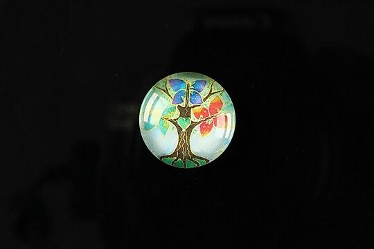 "Cabochon sticla 18mm ""Tree of life"" cod 088"