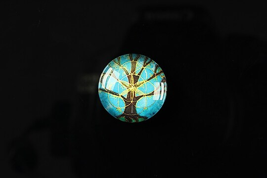 "Cabochon sticla 18mm ""Tree of life"" cod 089"