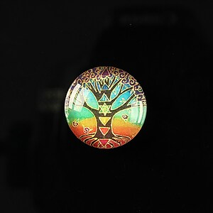 "Cabochon sticla 18mm ""Tree of life"" cod 090"