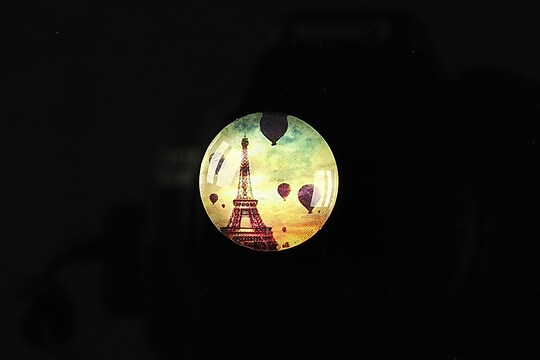 "Cabochon sticla 18mm ""Loving Paris"" cod 093"