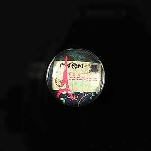 "Cabochon sticla 18mm ""Loving Paris"" cod 094"