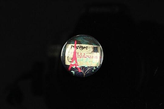 "Cabochon sticla 18mm ""Loving Paris"" cod 094"