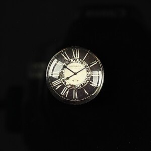 "Cabochon sticla 18mm ""Perfect time"" cod 095"