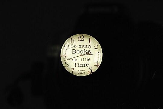 "Cabochon sticla 18mm ""Perfect time"" cod 097"