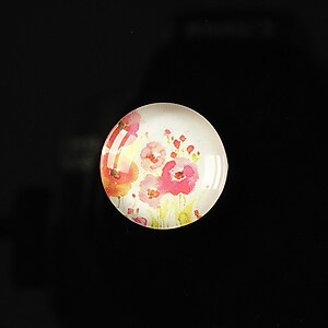 "Cabochon sticla 18mm ""Flower paradise"" cod 098"