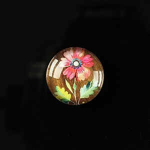 "Cabochon sticla 18mm ""Flower paradise"" cod 099"