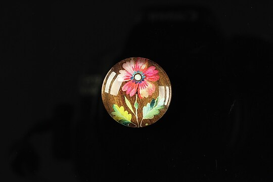 "Cabochon sticla 18mm ""Flower paradise"" cod 099"