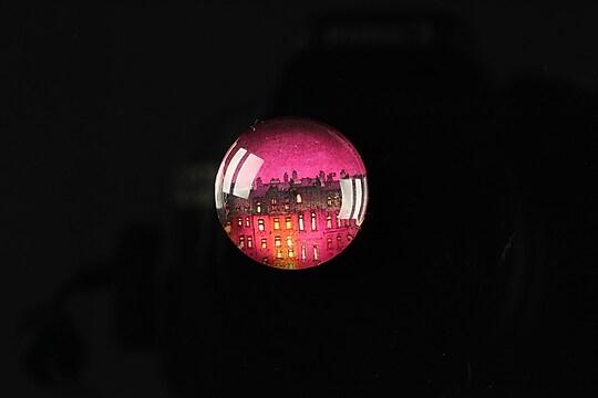 "Cabochon sticla 18mm ""City lights"" cod 101"