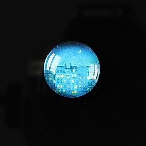 "Cabochon sticla 18mm ""City lights"" cod 102"