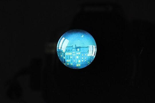"Cabochon sticla 18mm ""City lights"" cod 102"