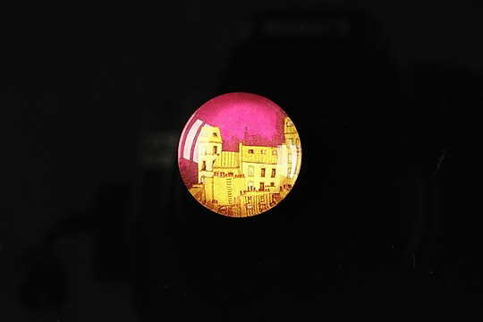 "Cabochon sticla 18mm ""City lights"" cod 103"