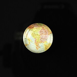 "Cabochon sticla 18mm ""Vintage world map"" cod 111"